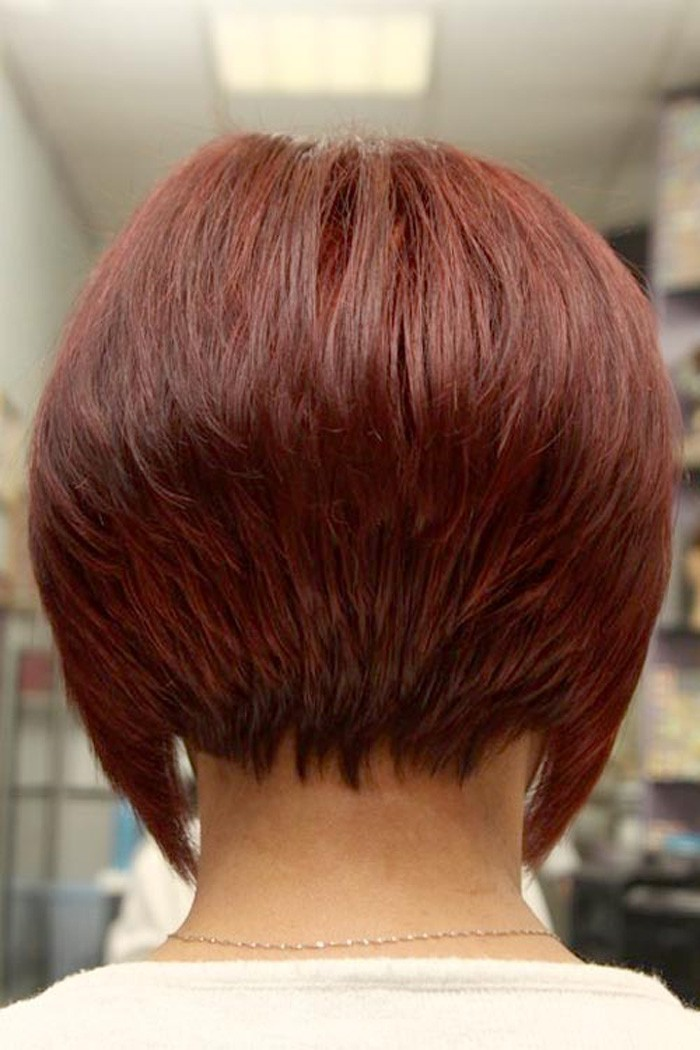 Short Bob Hairstyles Back View With Soft Flirty Layers Designs - Bob hairstyle back view photos