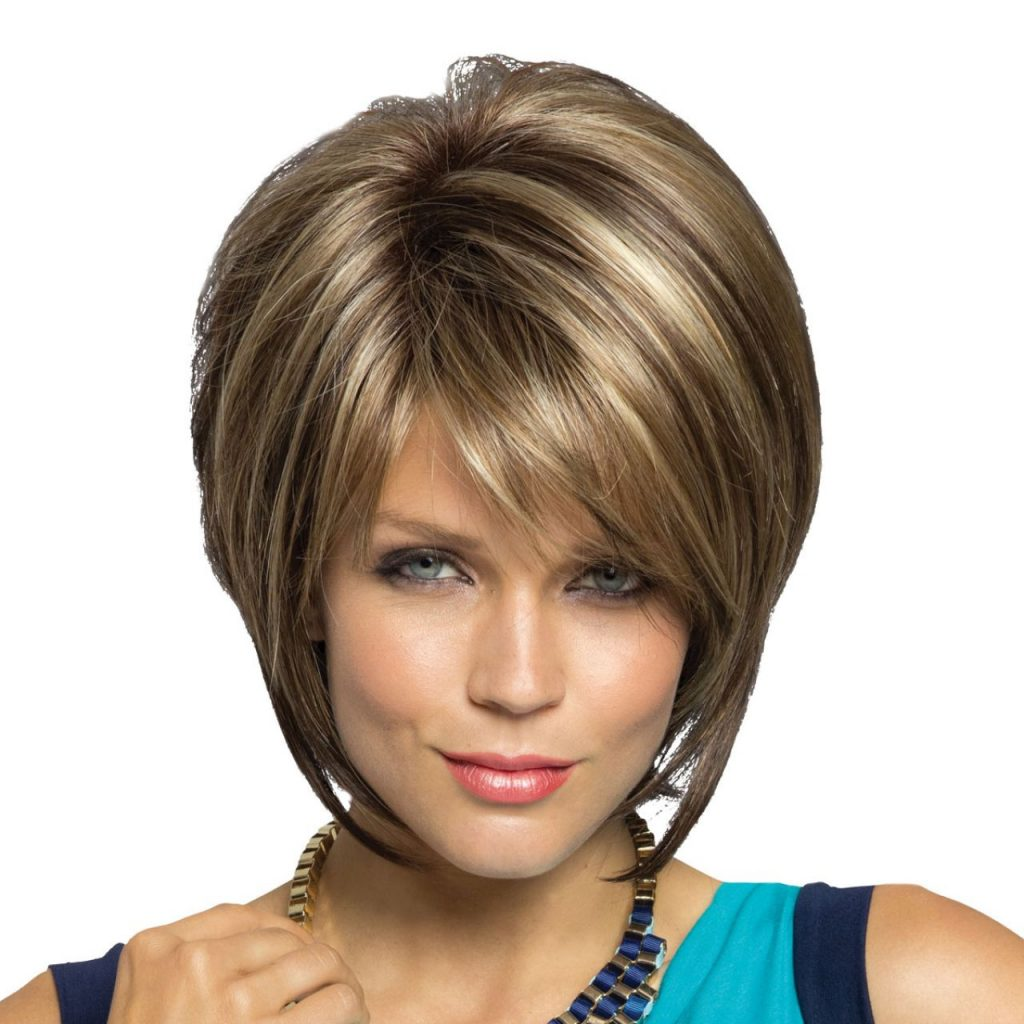 Sleek Short Stacked Bob Hairstyle